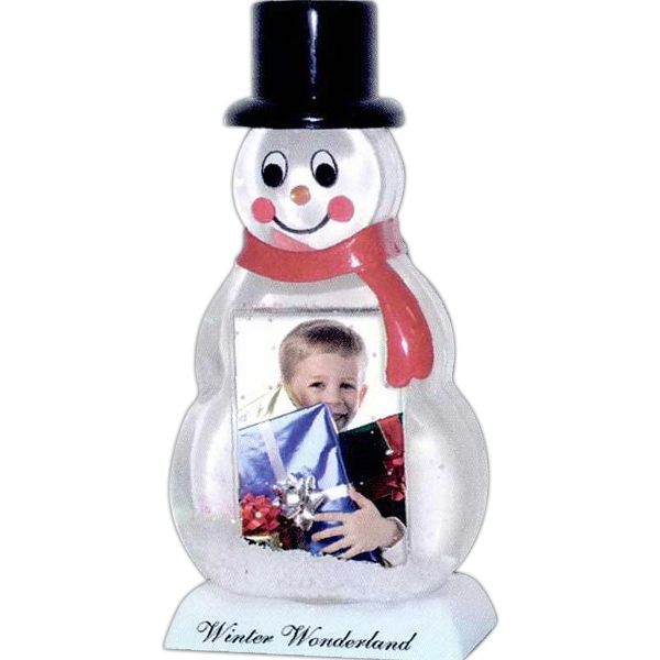 "Snowman Snow Globe, Insert Size 2 - 1 3/4"" X 2 3/4"" Photo"