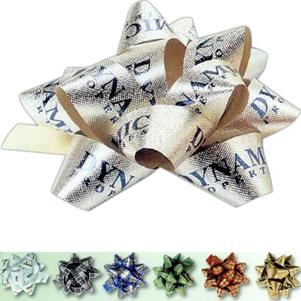"3/4"" Satin Embossed Poly Bow Photo"