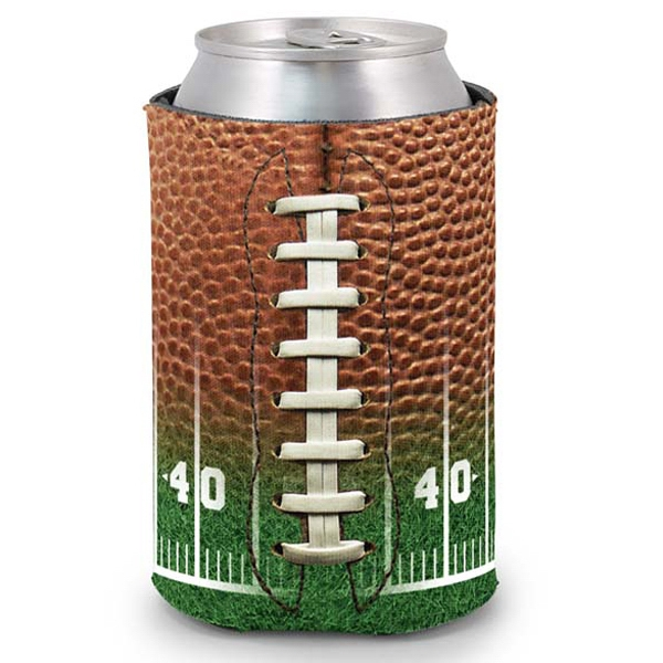 Pocket Coolie (r) - Open Cell Scuba Foam Can Insulator With Football Field Design Photo