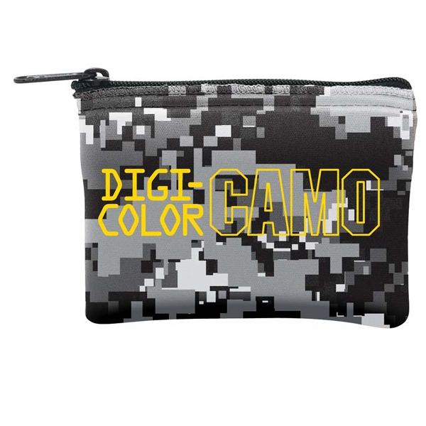 Small, Camo Four-color Process Coin Bag With Zipper Photo