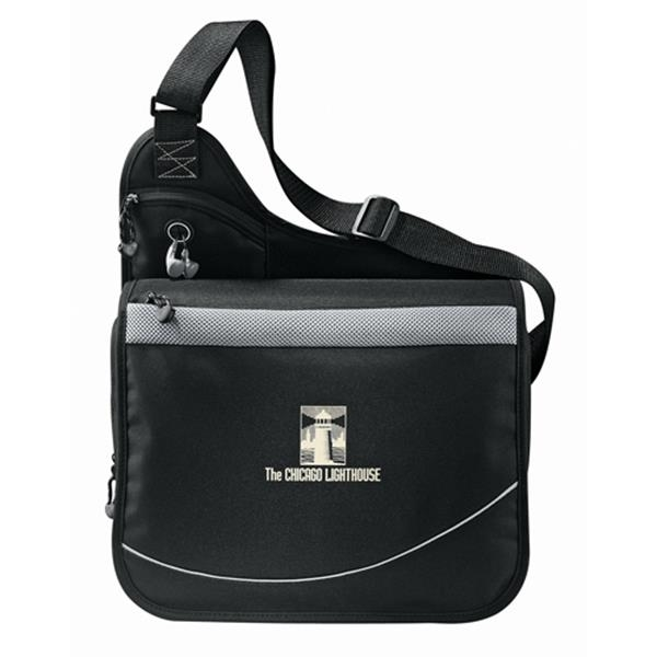 Incline - 600d Polycanvas Urban Messenger Bag With A Zippered Main Compartment Photo