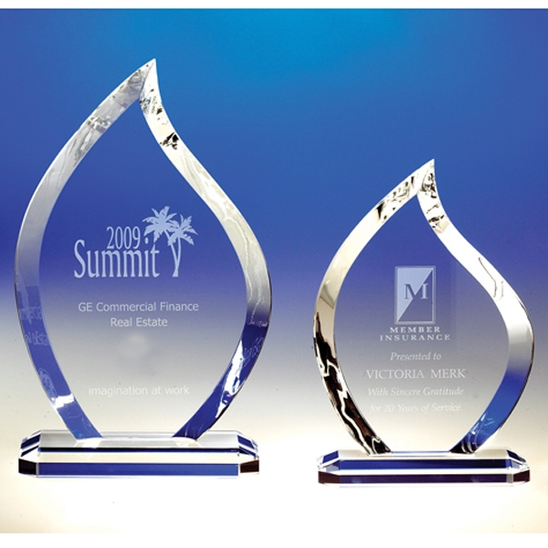 Flame - Flame Crystal Award By Crystal World Photo