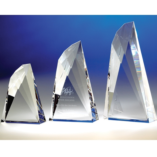 "Flight - Flight 10"" Wing-shaped Crystal Award By Crystal World. Sp191 Photo"