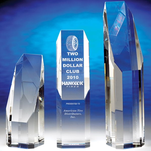 "Premier - Premier 6-1/2"" Crystal Award By Crystal World. Sp190 Photo"