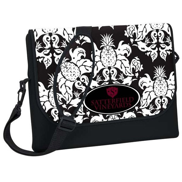 P.k. Reese (tm) - Standard Messenger Bag-style Laptop Sleeve With Pineapple Damask Design Photo