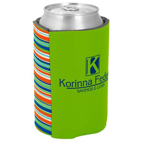 Kolder Kaddy (tm) P. K. Reese (tm) - Two Tone Can Insulator With Outer Banks Design On One Side Photo