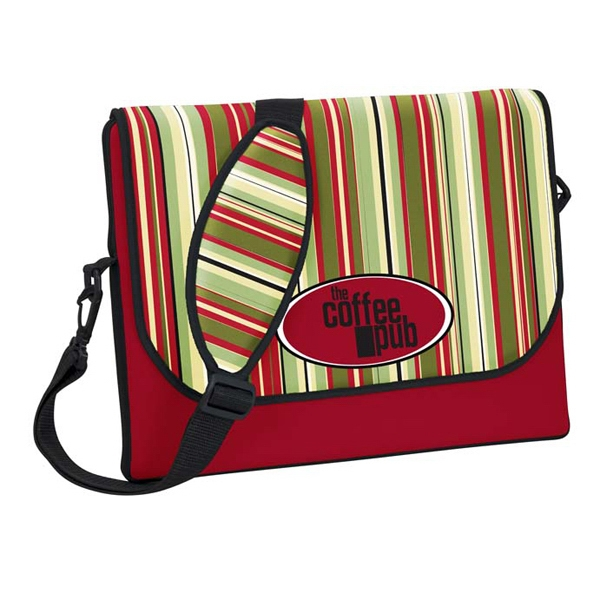 P.k. Reese (tm) - Messenger Bag-style Laptop Sleeve With Tucson Design And Black Strap And Gusset Photo