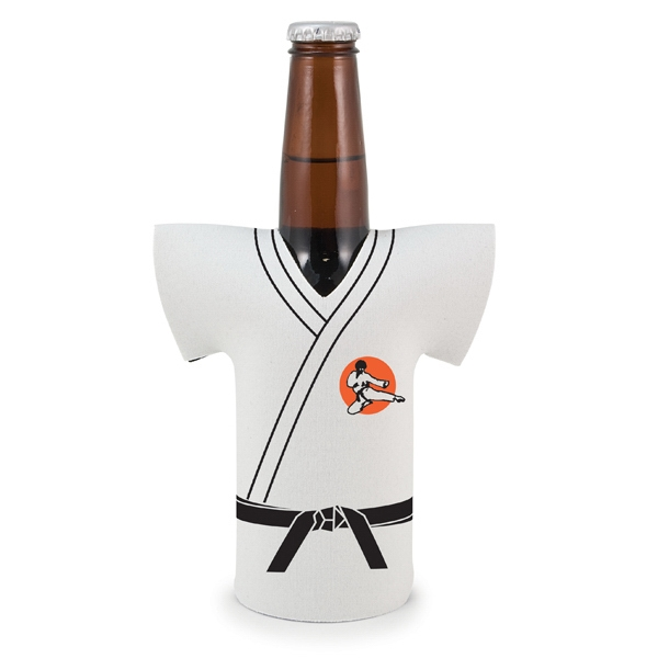 Bottle Jersey (r) - Jersey Shaped, Karate Uniform Bottle Insulator Sleeve Photo
