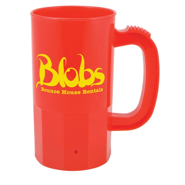 14 Oz. Red Plastic Stein Photo