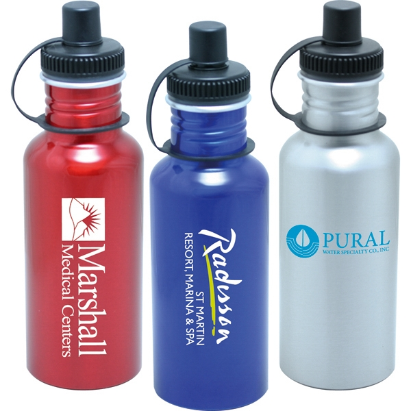 Turret - 20 Oz. Aluminum Sport Bottle With Push Pull Sport Top Photo