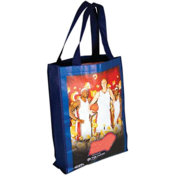 """15""""W x 15""""H x 3""""D - CMYK Non-Woven Tote Bag"""