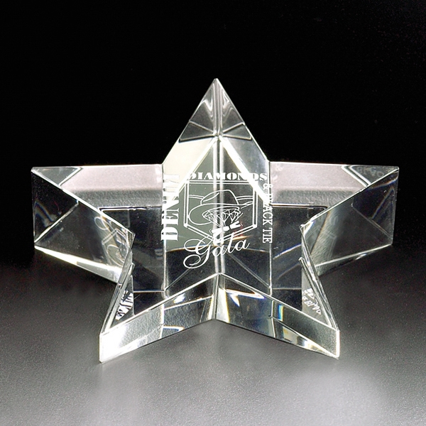 Stargazer - Stargazer Crystal Paperweight By Crystal World Photo