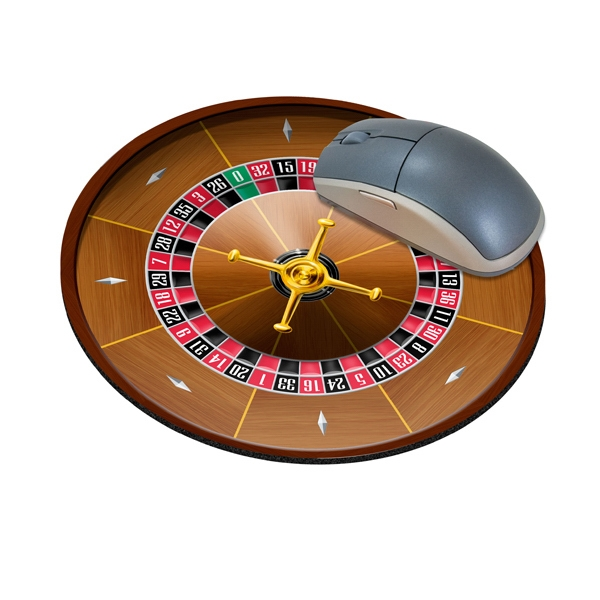 "Four Color Process, Mouse Pads, Round, Natural Rubber, 8"" Diameter, Roulette Wheel Photo"