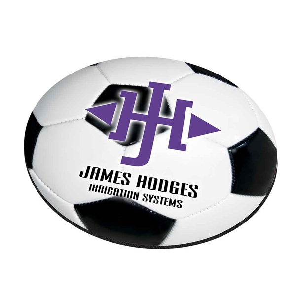 "Four Color Process, Mouse Pads, Round, Natural Rubber, 8"" Diameter, Soccer Photo"