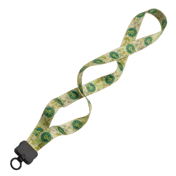 "Recycled, Dye Sublimated, 3/4"" Lanyard With Plastic Clamshell And O-ring Photo"