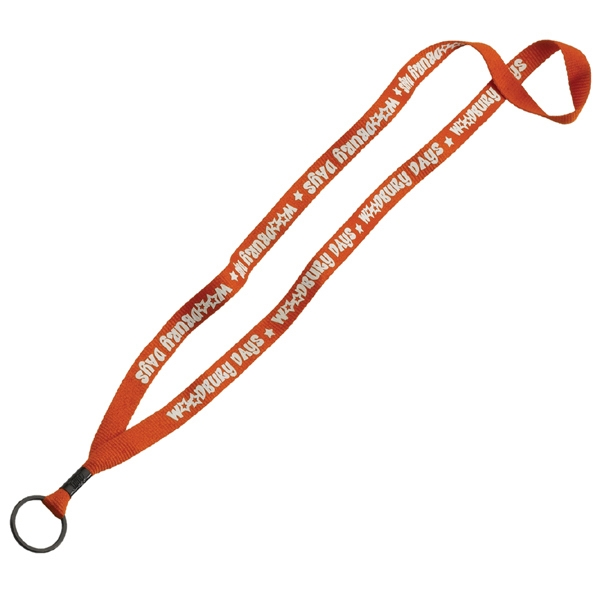 "1/2"" Polyester Lanyard w/ Metal Crimp & Split-Ring"