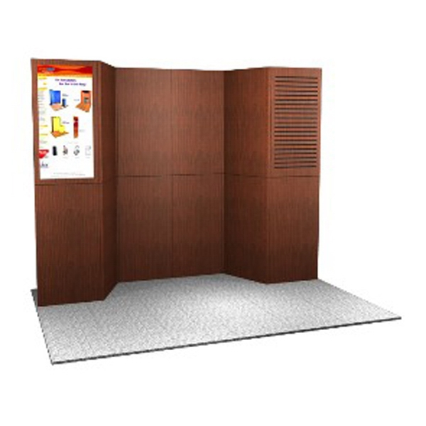 Abex 900 Laminate Panel Display System - Modular Laminated 10ft. panel system, with two 5PCC top loading cases.