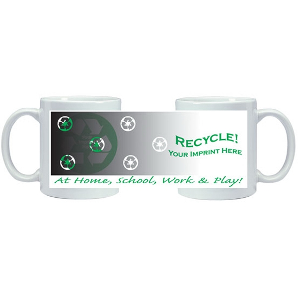 Magic Mug (tm) - Ceramic Temperature Reactive Mug With Recycle Design Photo