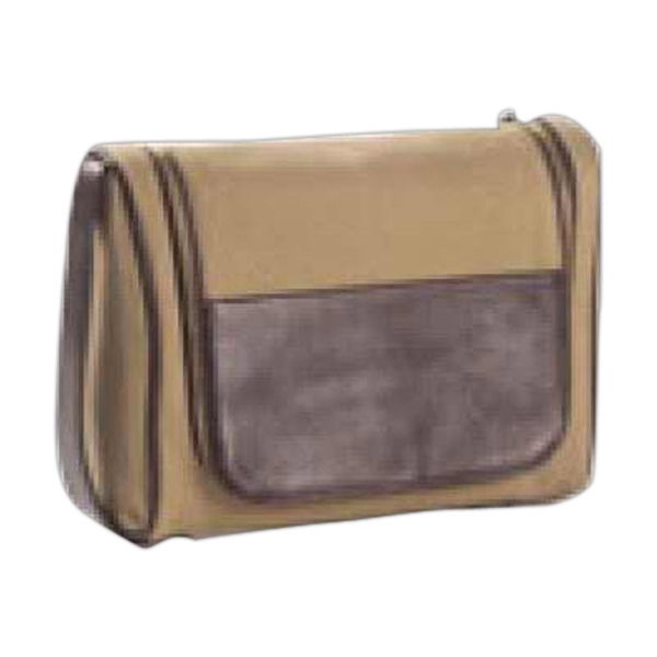 Redford - Leather Accented Toiletry/cosmetics Case With Hook To Hang From Door Or Hook Photo