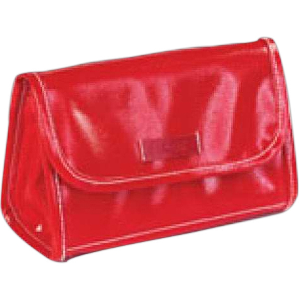 Wellie - Shiny Coated Canvas Cosmetic/accessory Pouch Photo