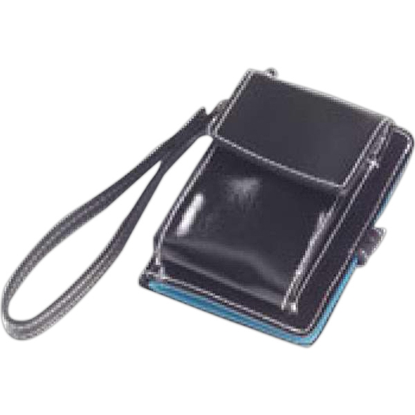 Wellie - Shiny Coated Canvas Cell Phone Wallet Photo