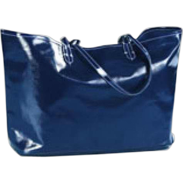 Wellie - Shiny Coated Canvas Market Tote Bag Photo