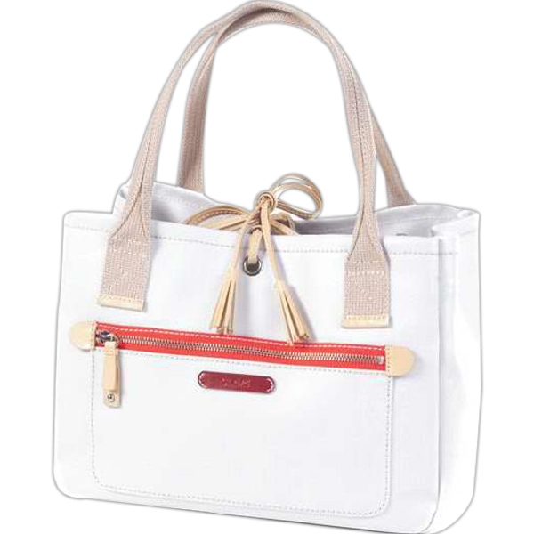 Carina - Coated Canvas Tassel Handbag Photo