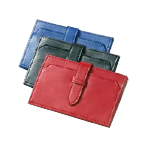 Clava(r) - Fashionable Business Card/credit Card Wallet Secures Contents With Tap Closure Photo