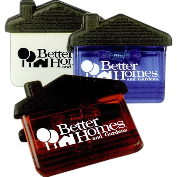 House Shaped Memo Clip With Heavy Duty Spring Loaded Hinge And Magnet Photo