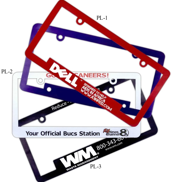 License Plate Frame With Narrow Top And Full Length Bottom Panel Photo
