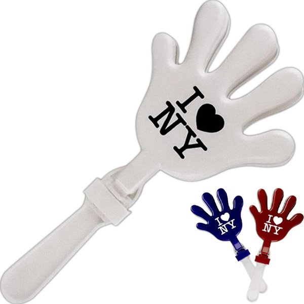 Clapper - Two Tone, Hand Shaped Clapping Noisemaker Photo