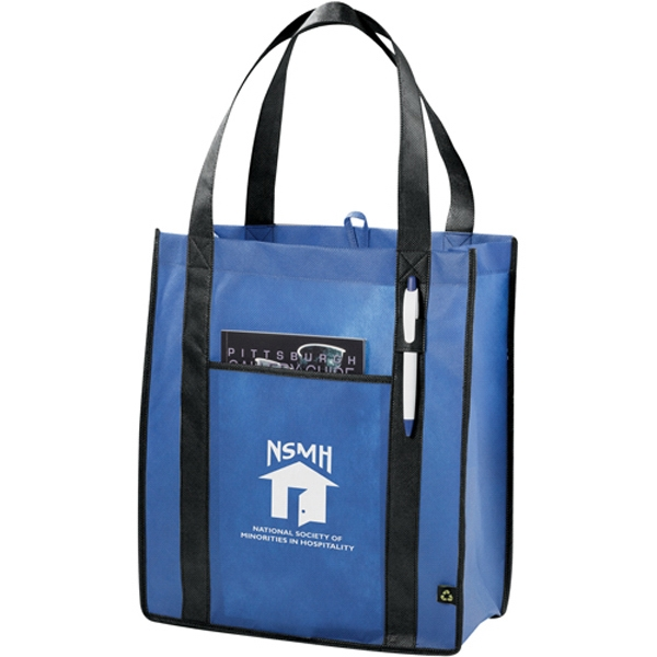 Non-woven Contrast Carry-all Tote Photo