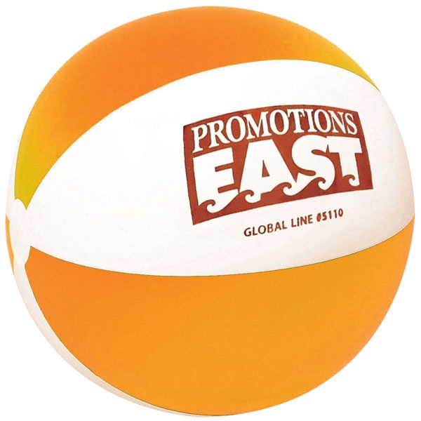 "Heavy Gauge Vinyl Inflatable Classic Beach Ball With Alternating Panels, 10"" Photo"