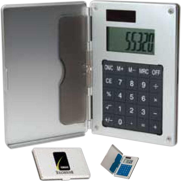 Aluminum Business Card Holder Calculator Photo
