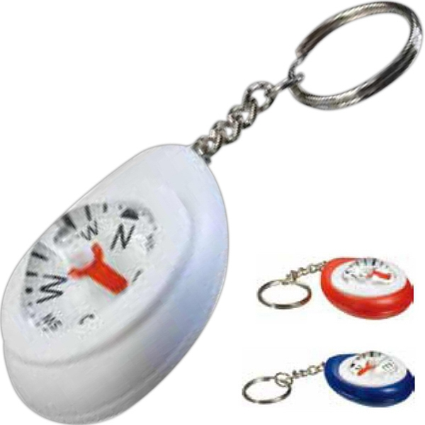 Large Dome Compass With Key Chain And Easy To Read Needle Photo
