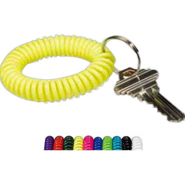 Wrist Coil Key Holder With Split Ring, Blank Photo