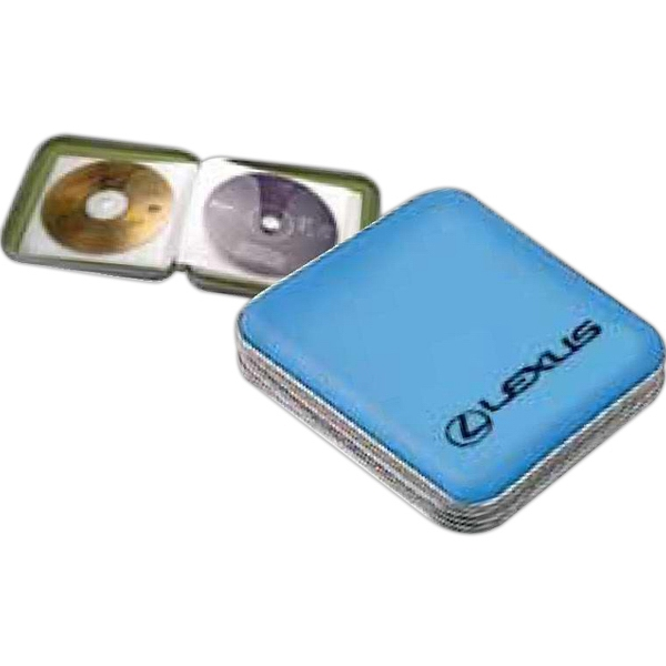 Translucent Plastic Cd Carry Case With Zipper, Holds 24 Cd/dvd's Photo