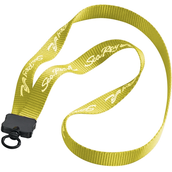 "3/4"" Woven Nylon Lanyard With Plastic Clamshell & O-ring. Clearance Photo"