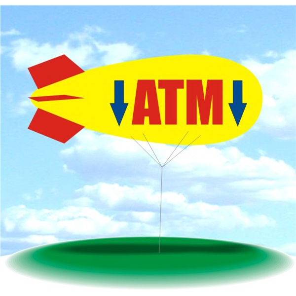 Helium Blimp Display - PVC 17' helium blimp outdoor use, ATM design Large Inflatable Balls Giant Balloons.