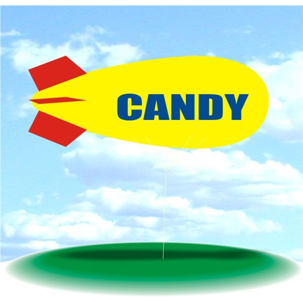 Helium Blimp Display - PVC 17' helium display blimp, indoor/outdoor use, CANDY design.