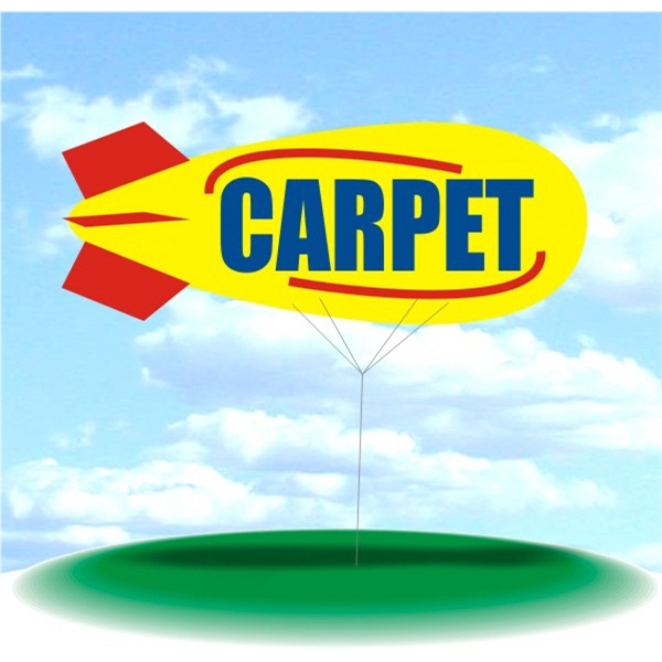 Helium Blimp Display - PVC 17' helium display blimp, indoor/outdoor use, CARPET design.