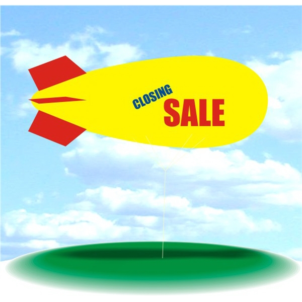 Helium Blimp Display - PVC 17' helium display blimp, indoor/outdoor use, CLOSING SALE design.
