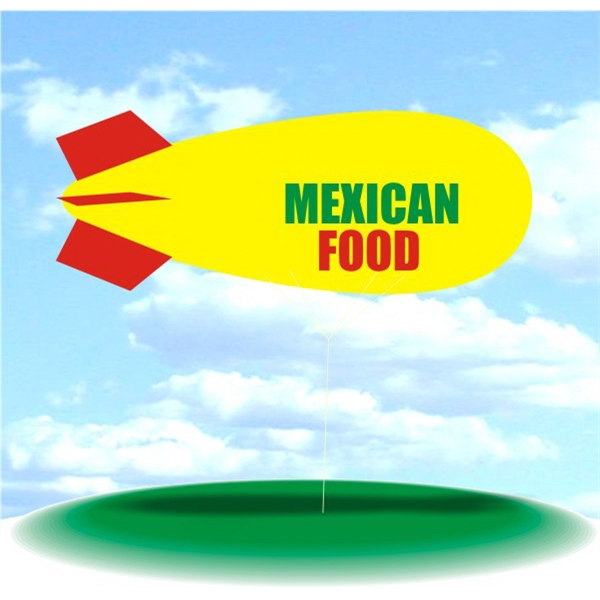 Helium Blimp Display - PVC 17' helium display blimp, indoor/outdoor use, MEXICAN FOOD design.