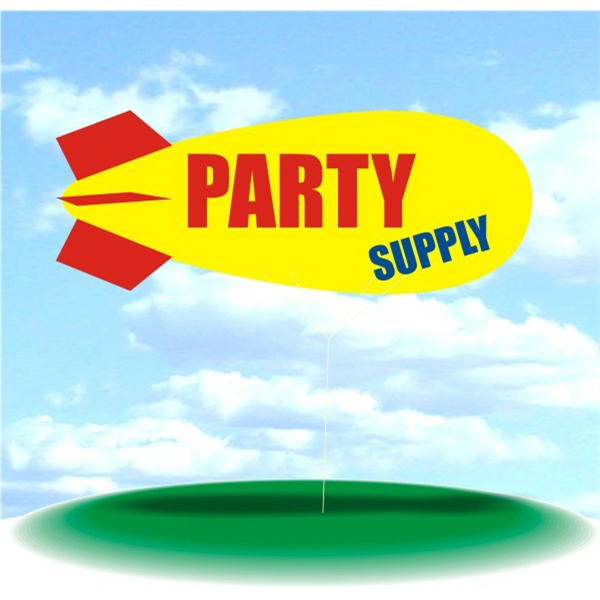 Helium Blimp Display - PVC 17' helium display blimp, indoor/outdoor use, PARTY SUPPLY design.