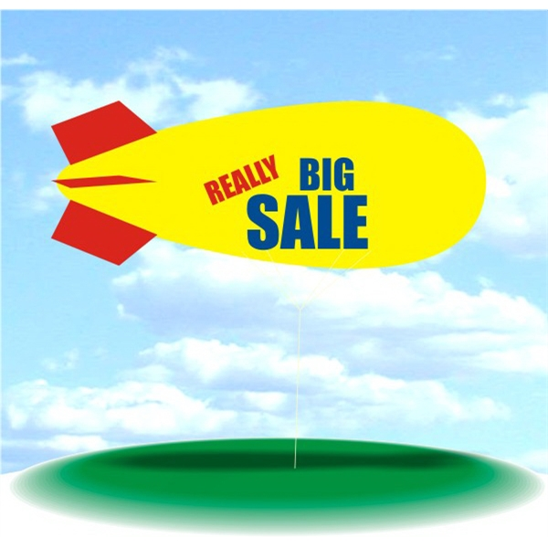 Helium Blimp Display - PVC 17' helium display blimp, indoor/outdoor use, REALLY BIG SALE design.