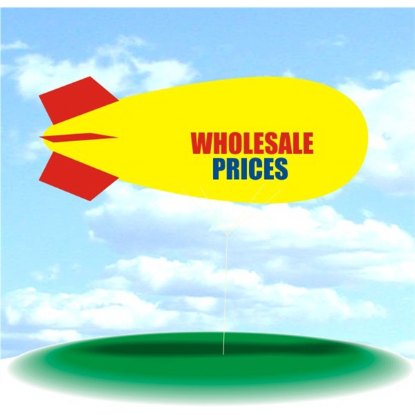 Helium Blimp Display - PVC 17' helium display blimp, indoor/outdoor use, WHOLESALE PRICES design.