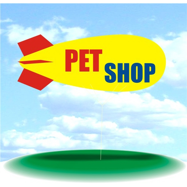 Helium Blimp Display - PVC 17' helium blimp outdoor use, PET SHOP Blimps For Sale Balloons Blimps.