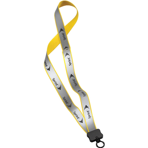 "3/4"" Reflective Lanyard With Plastic Clamshell And O-ring Photo"