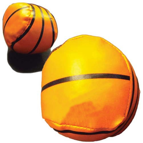 Vinyl Covered Throw Ball With Basketball Design Photo