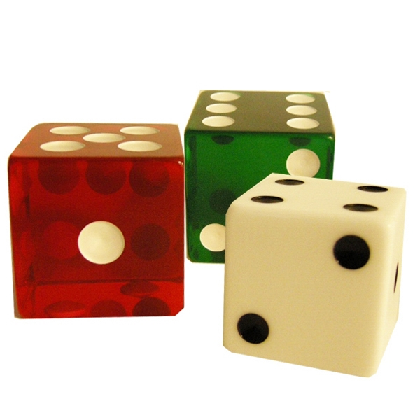 "Custom Jumbo Dice, 2"" Photo"